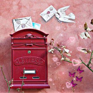 Briefkasten und Liebesbriefe